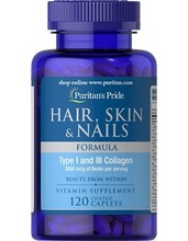 Puritan's PrideHair, Skin & Nails Formula 60 Caplets