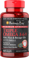 Puritan's Pride Triple Omega 3-6-9 60 caps