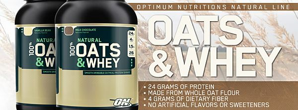 Optimum Nutrition Natural 100% Oats & Whey 1363g